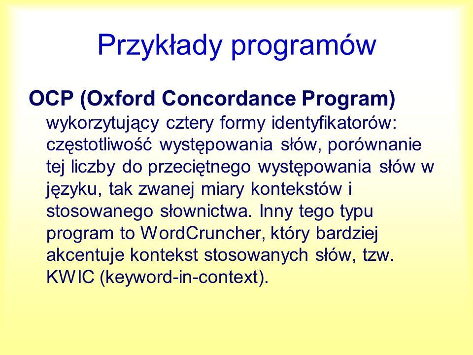 Przykłady programów