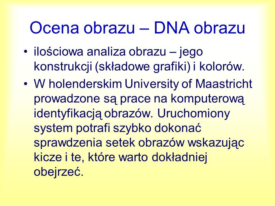 Ocena obrazu – DNA obrazu