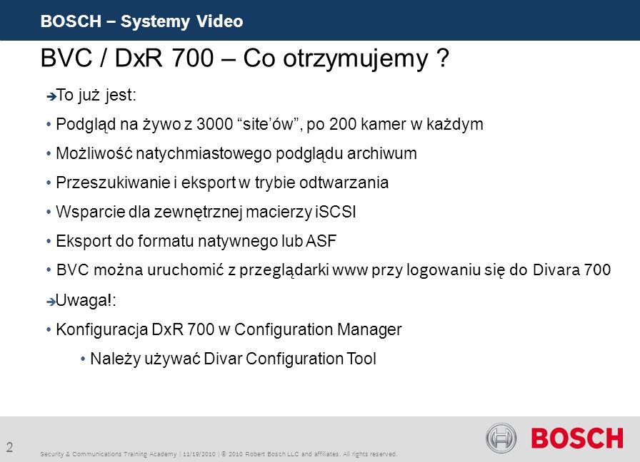 BVC / DxR 700 – Co otrzymujemy