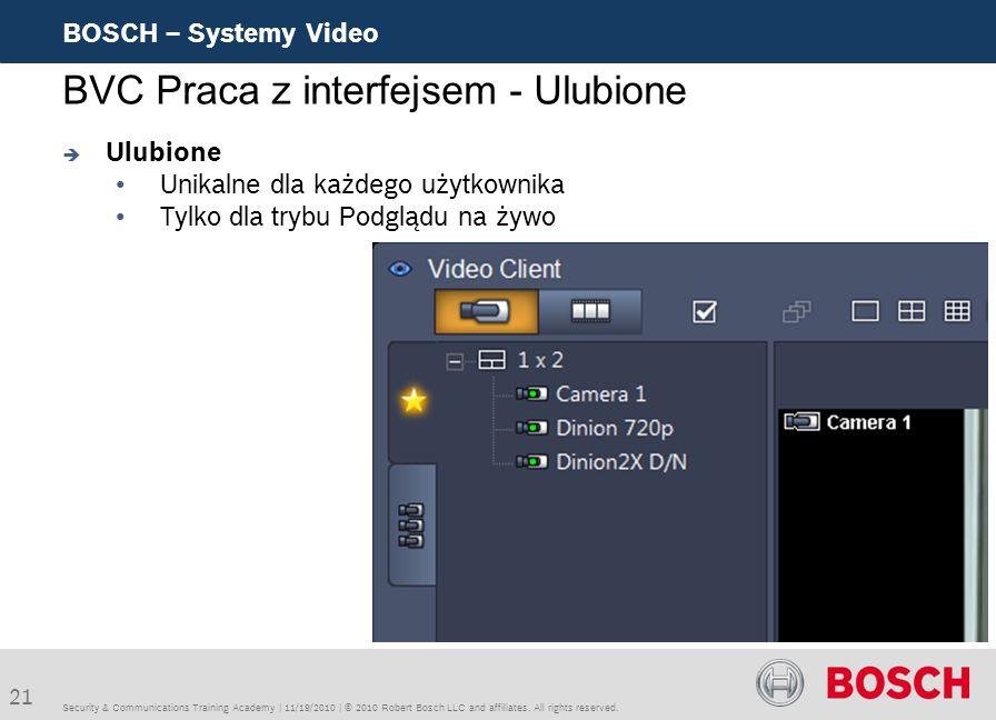 BVC Praca z interfejsem - Ulubione