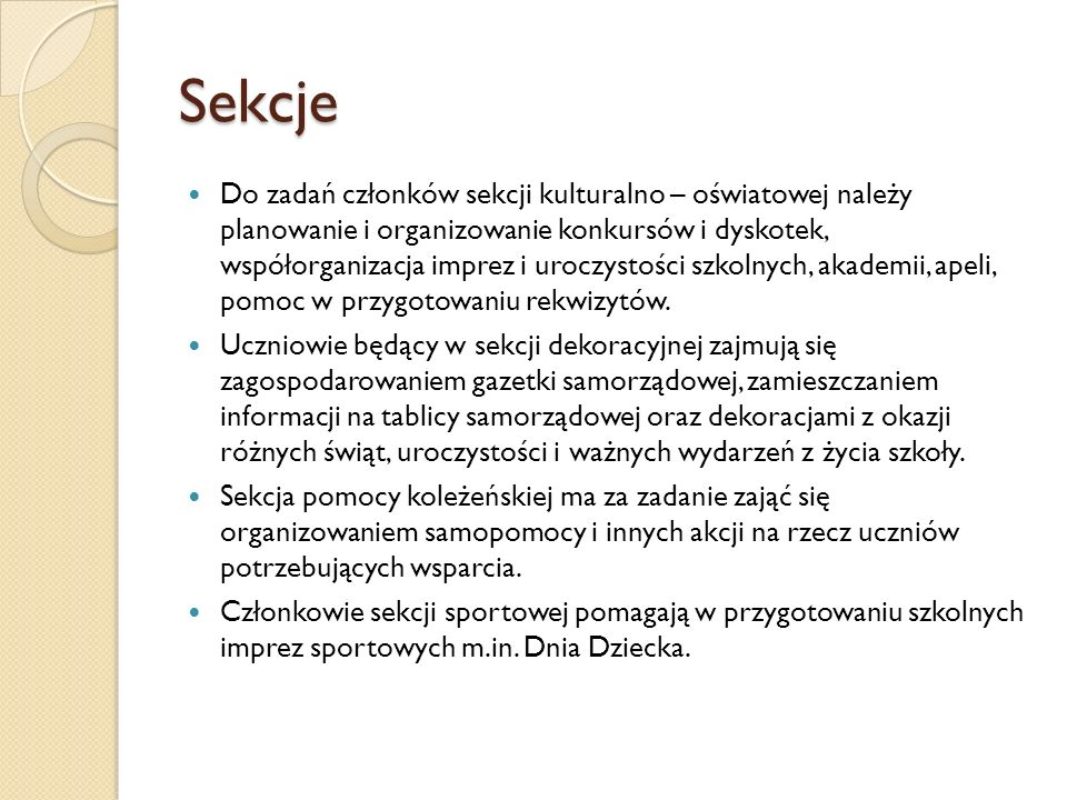 Sekcje