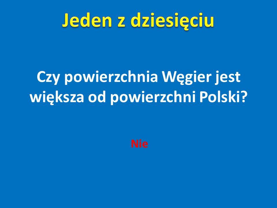 Czy powierzchnia Węgier jest większa od powierzchni Polski