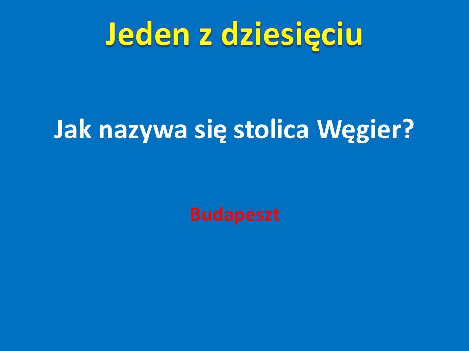 Jak nazywa się stolica Węgier