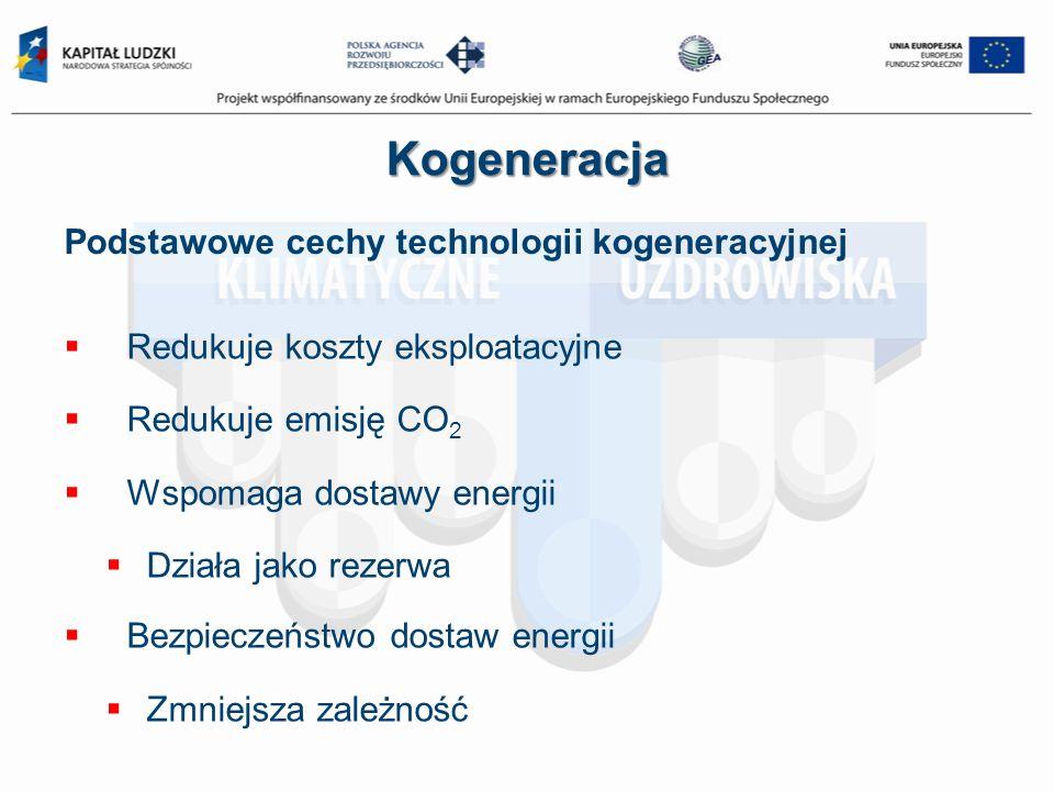 Kogeneracja Podstawowe cechy technologii kogeneracyjnej