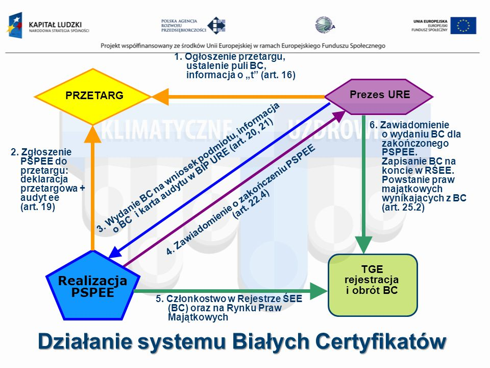 Działanie systemu Białych Certyfikatów