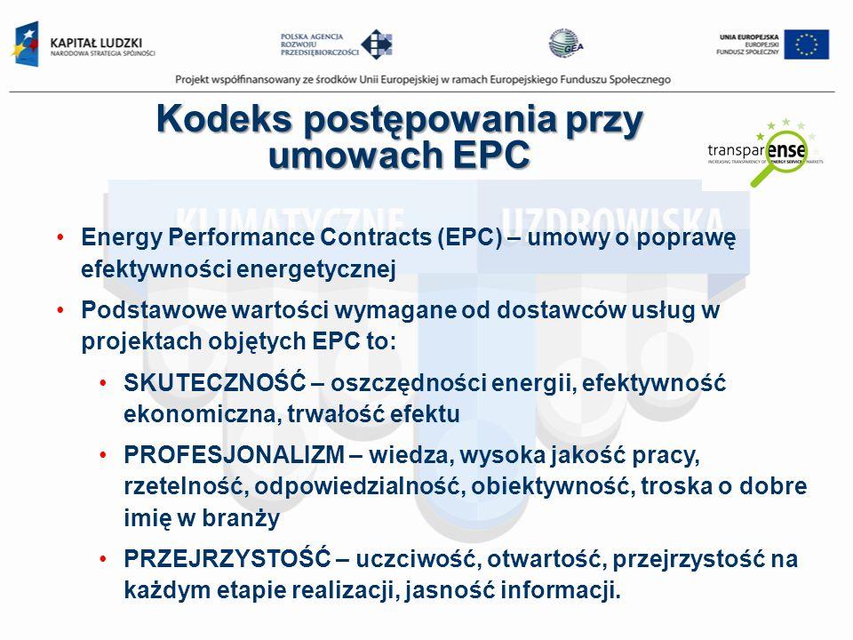 Kodeks postępowania przy umowach EPC