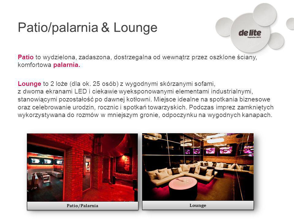 Patio/palarnia & Lounge