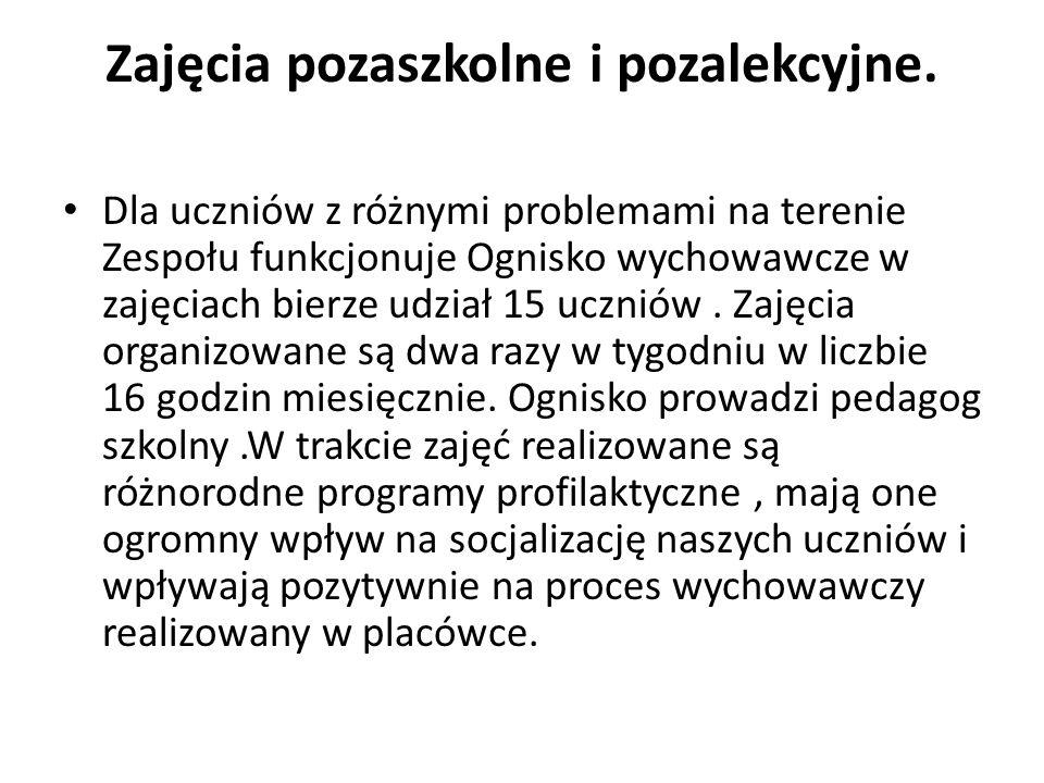 Zajęcia pozaszkolne i pozalekcyjne.