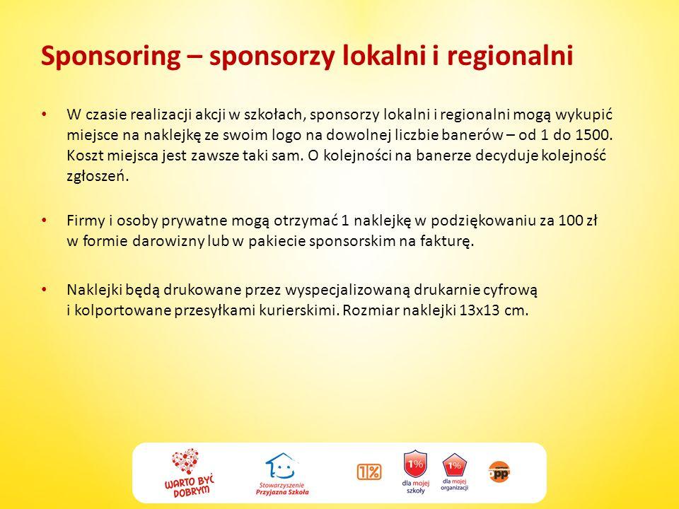 Sponsoring – sponsorzy lokalni i regionalni