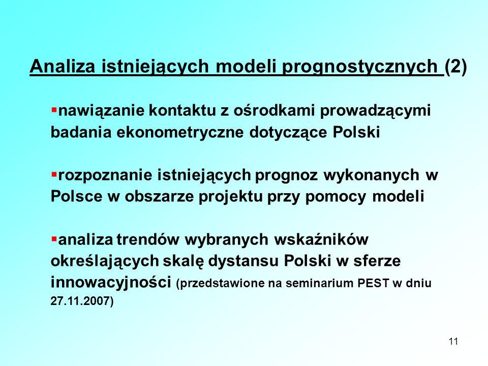 Analiza istniejących modeli prognostycznych (2)