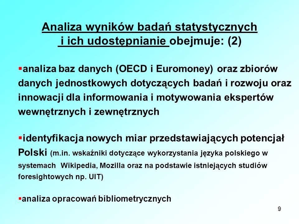 Analiza wyników badań statystycznych i ich udostępnianie obejmuje: (2)