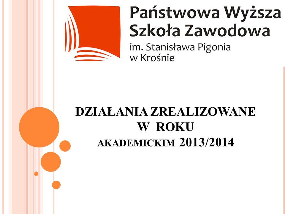 DZIAŁANIA ZREALIZOWANE W ROKU akademickim 2013/2014