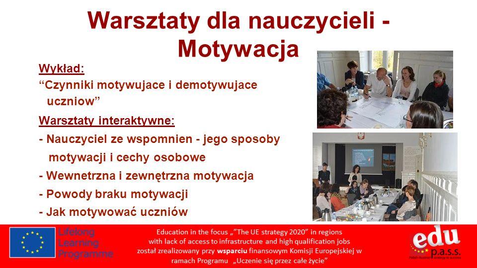 Warsztaty dla nauczycieli - Motywacja