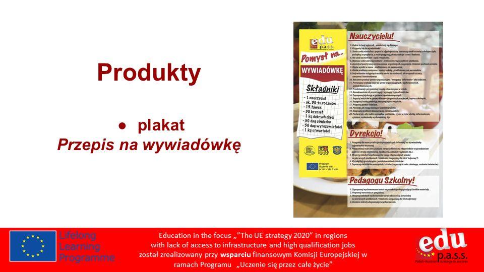 Produkty plakat Przepis na wywiadówkę