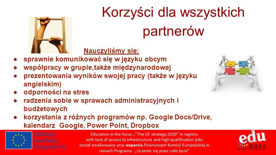 Korzyści dla wszystkich partnerów