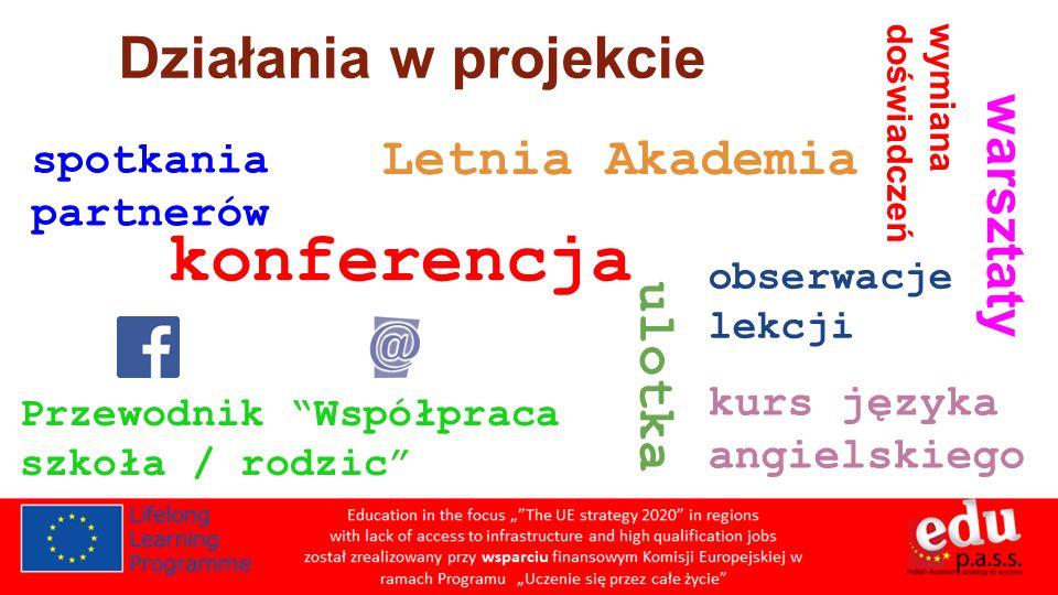 konferencja Działania w projekcie Letnia Akademia warsztaty ulotka