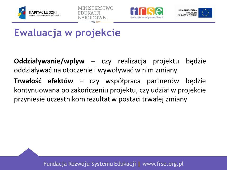 Ewaluacja w projekcie