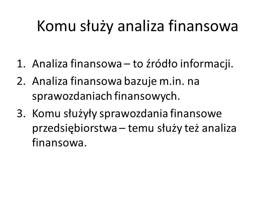 Komu służy analiza finansowa