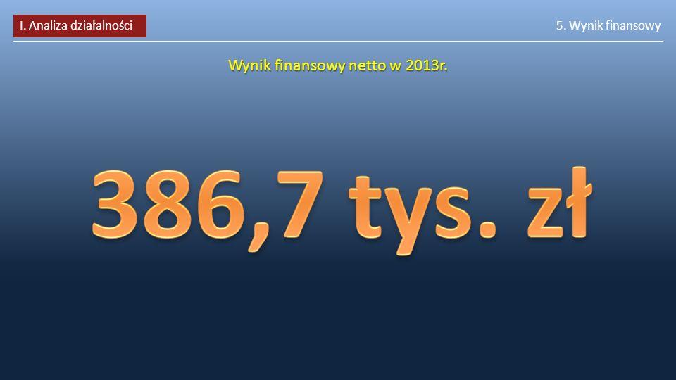 Wynik finansowy netto w 2013r.