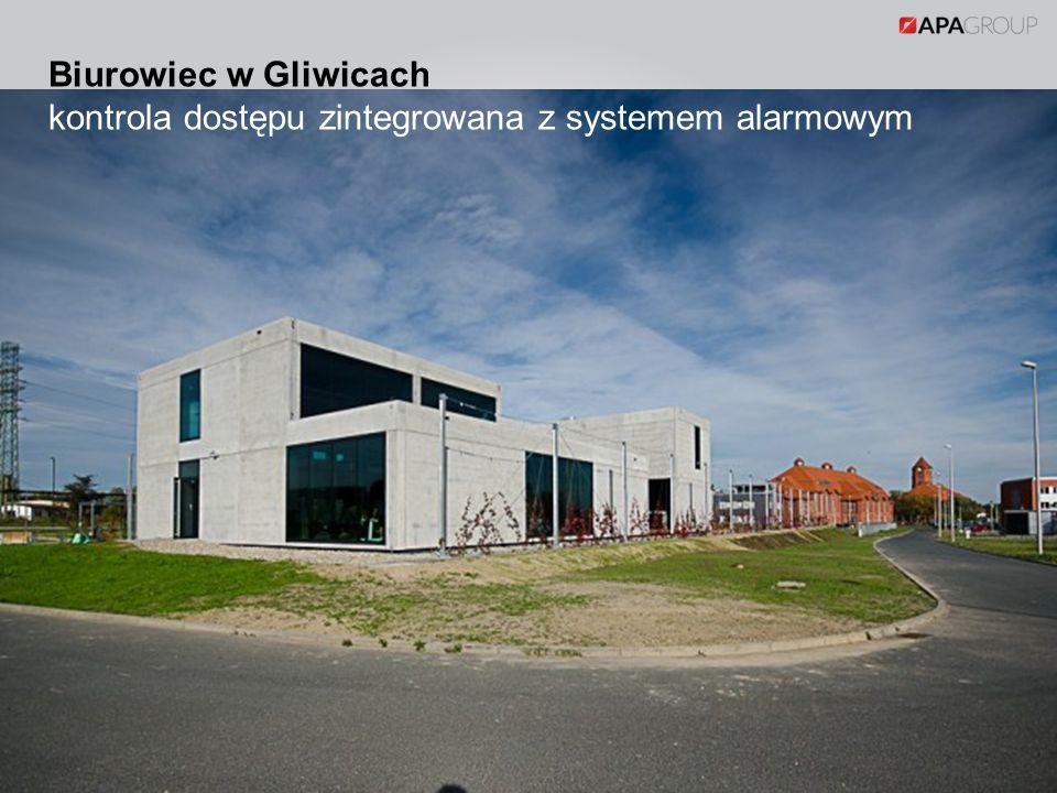 Biurowiec w Gliwicach kontrola dostępu zintegrowana z systemem alarmowym