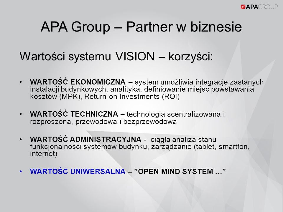 APA Group – Partner w biznesie
