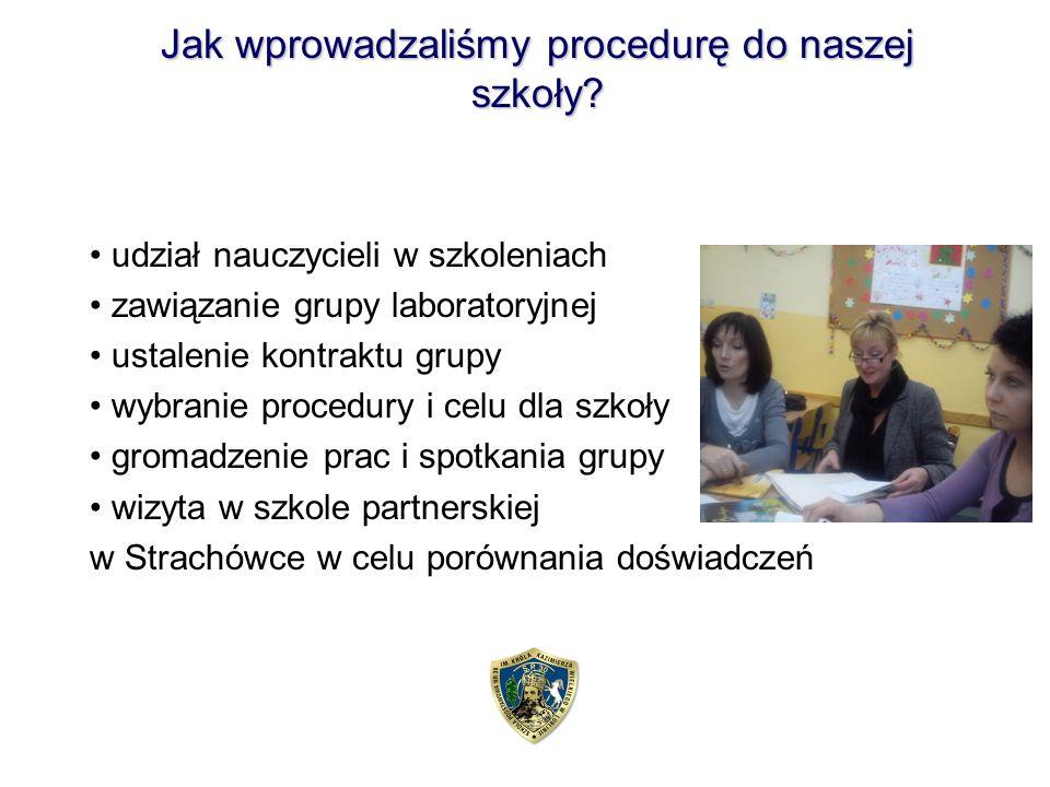 Jak wprowadzaliśmy procedurę do naszej szkoły