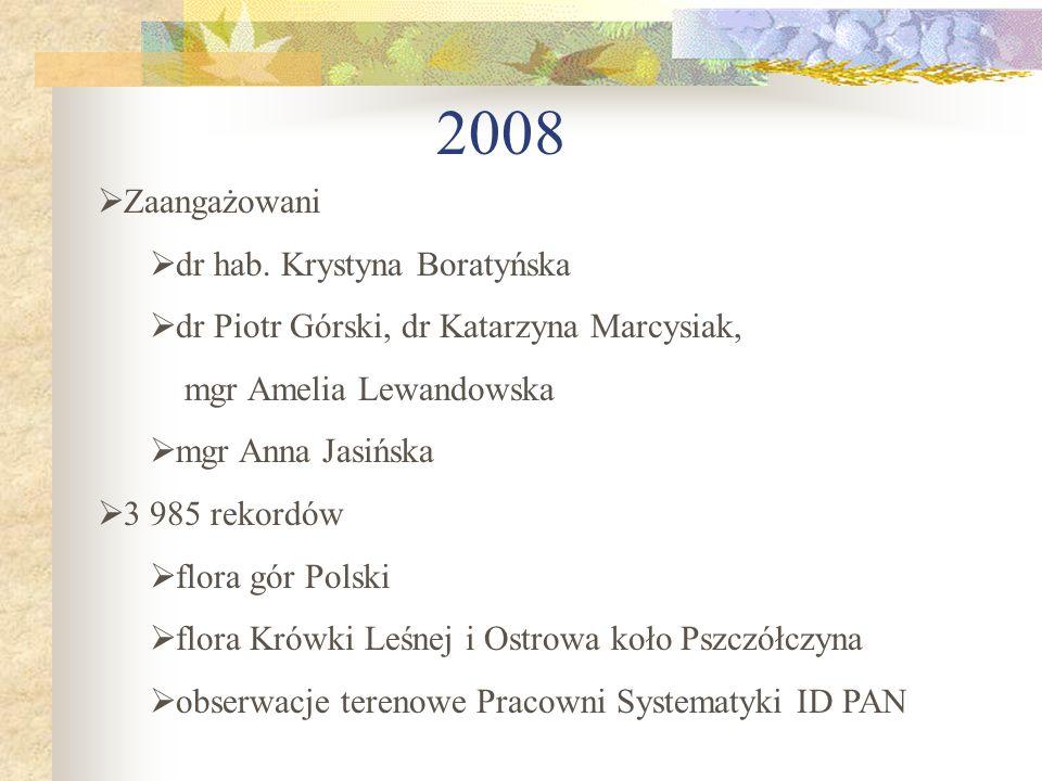 2008 Zaangażowani dr hab. Krystyna Boratyńska
