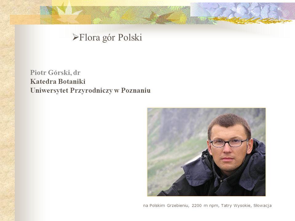 Flora gór Polski Piotr Górski, dr Katedra Botaniki