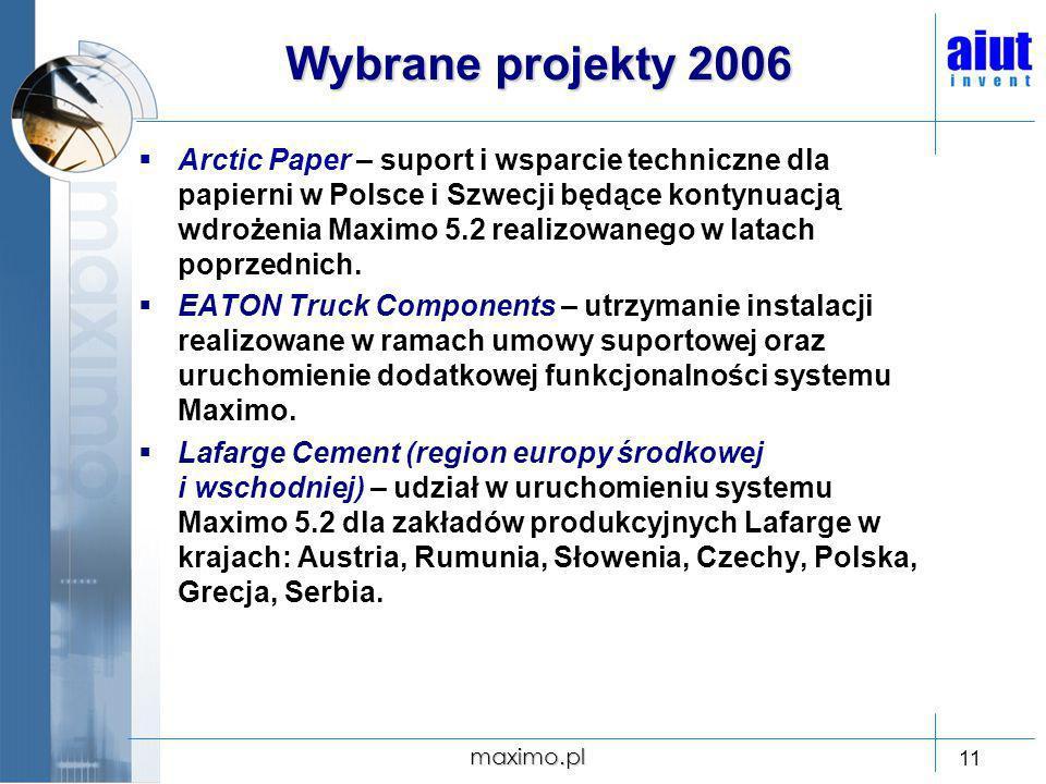 Wybrane projekty 2006