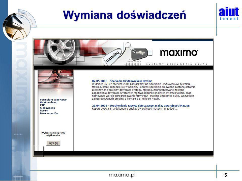 Wymiana doświadczeń maximo.pl