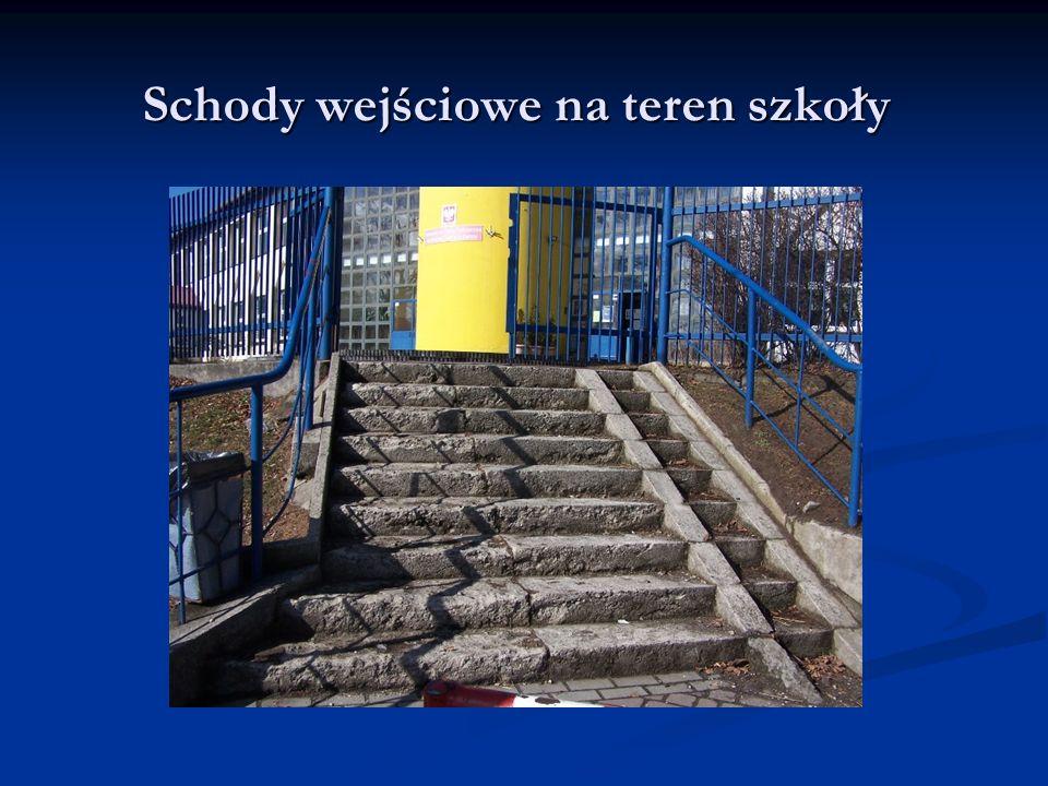 Schody wejściowe na teren szkoły