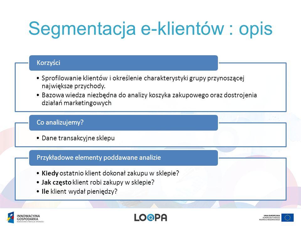 Segmentacja e-klientów : opis