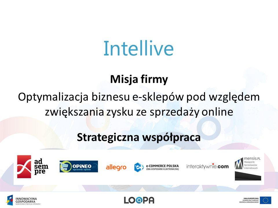 Intellive Misja firmy Optymalizacja biznesu e-sklepów pod względem zwiększania zysku ze sprzedaży online Strategiczna współpraca