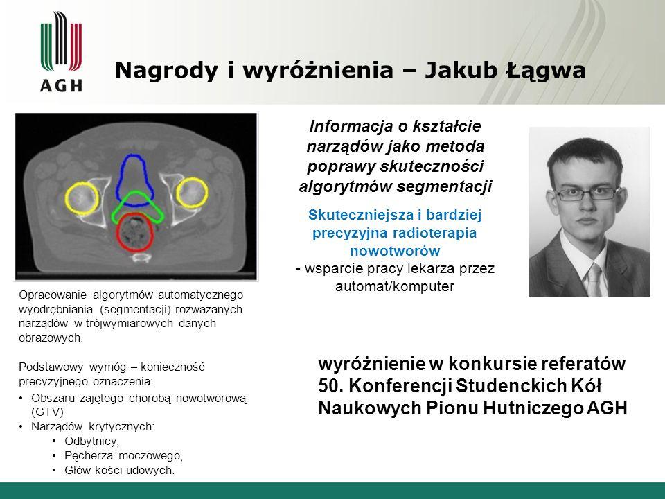 Nagrody i wyróżnienia – Jakub Łągwa