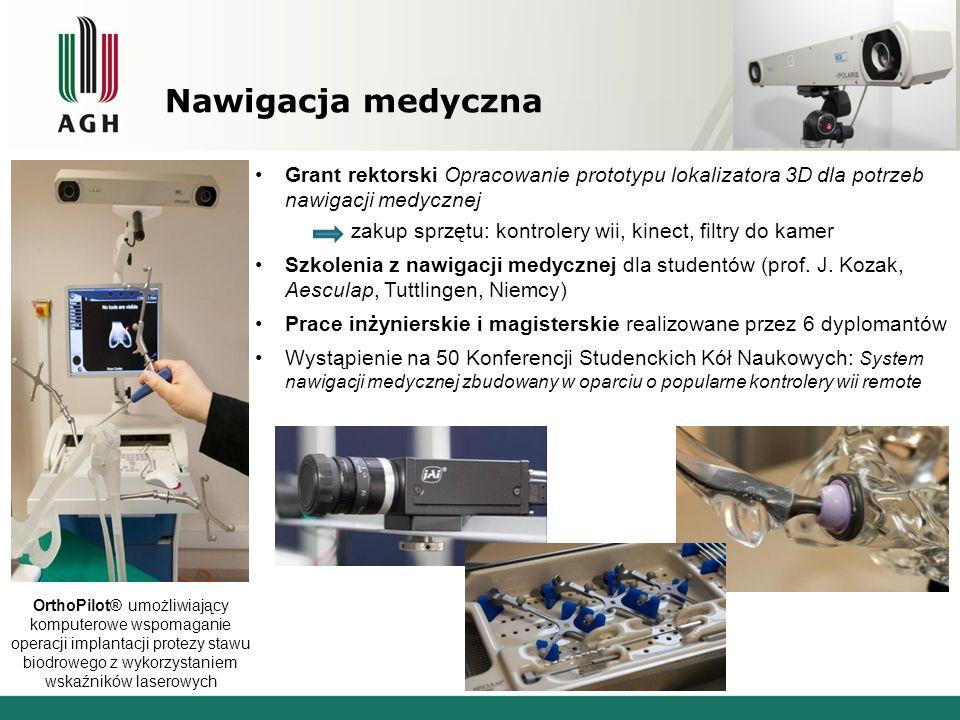Nawigacja medyczna Grant rektorski Opracowanie prototypu lokalizatora 3D dla potrzeb nawigacji medycznej.