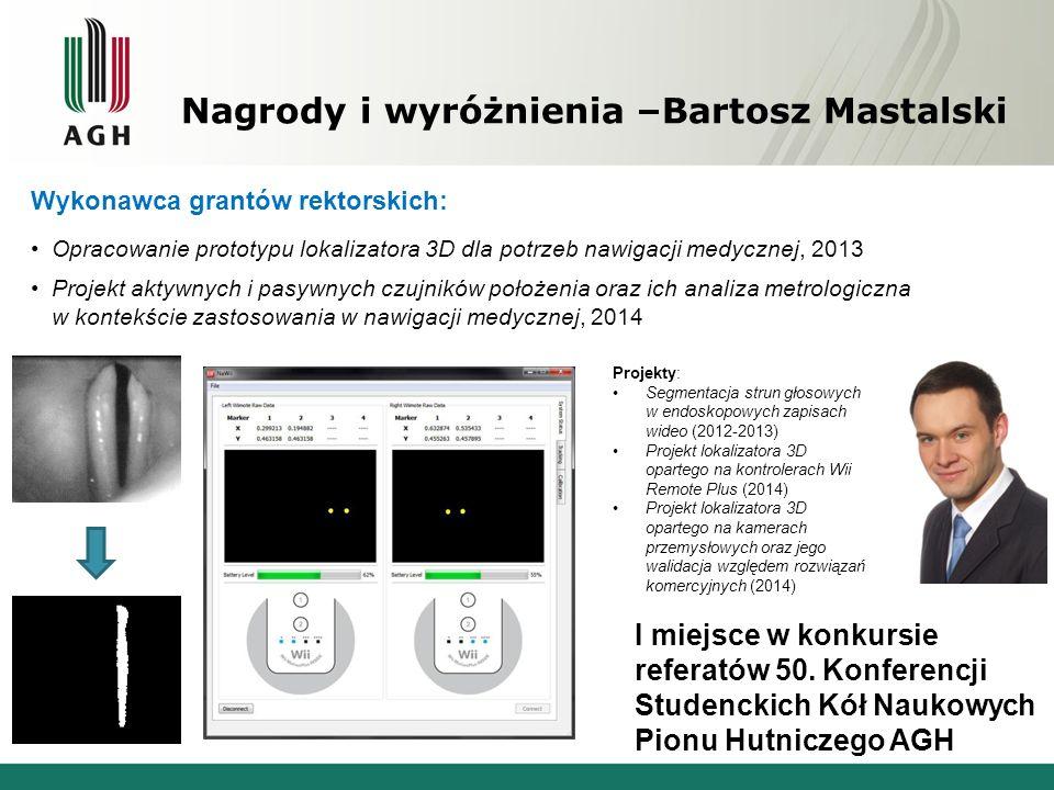 Nagrody i wyróżnienia –Bartosz Mastalski