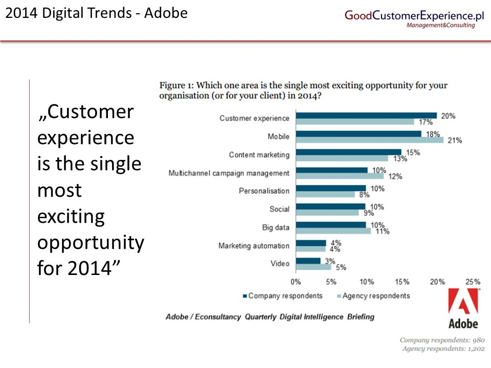 """Customer experience is the single most exciting opportunity for 2014"
