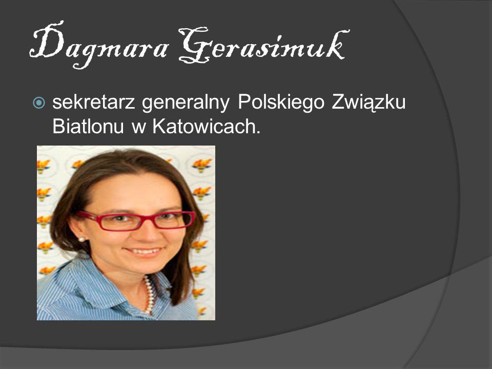Dagmara Gerasimuk sekretarz generalny Polskiego Związku Biatlonu w Katowicach.