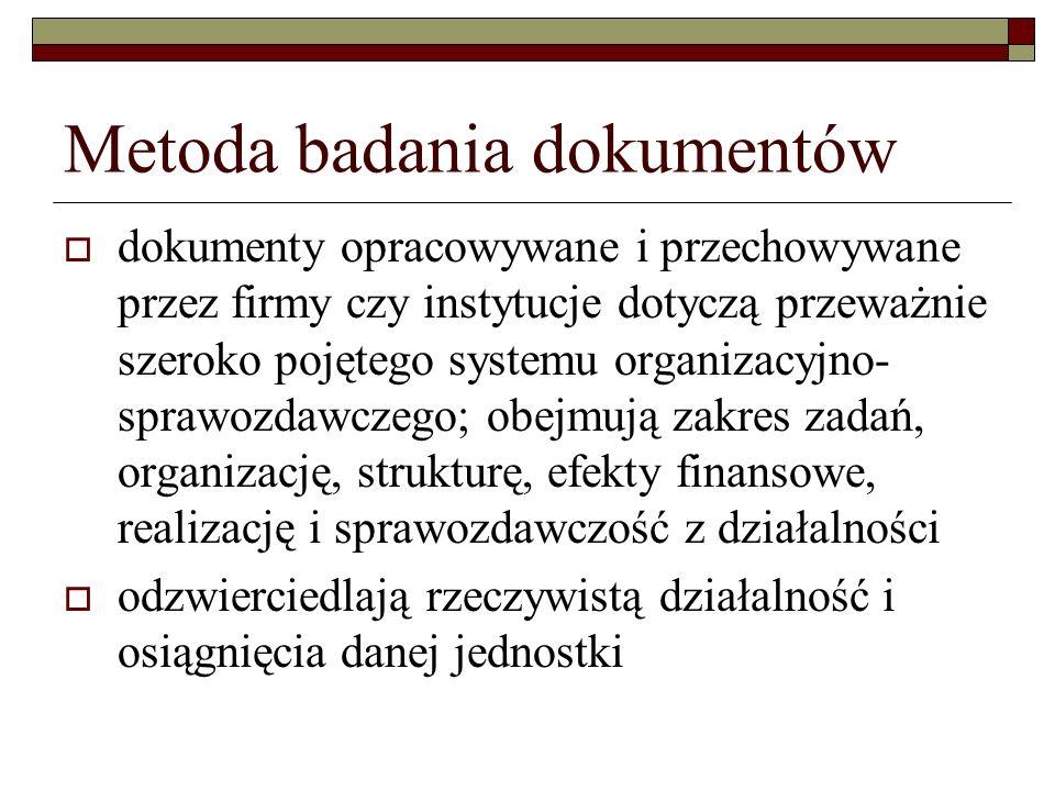 Metoda badania dokumentów