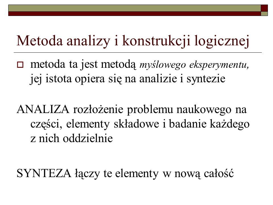 Metoda analizy i konstrukcji logicznej