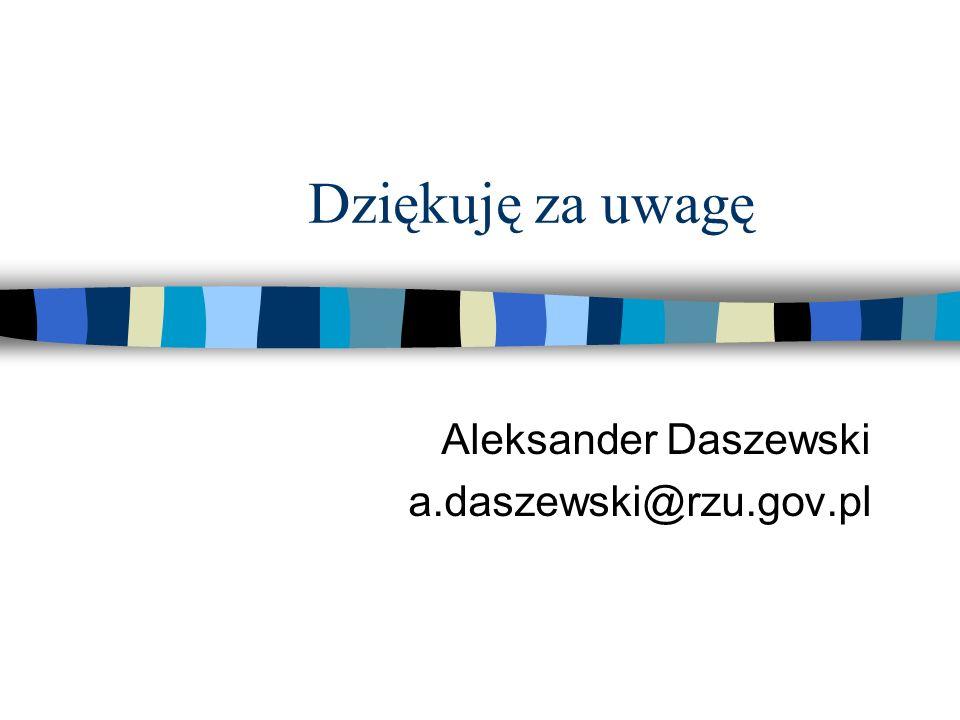 Aleksander Daszewski a.daszewski@rzu.gov.pl