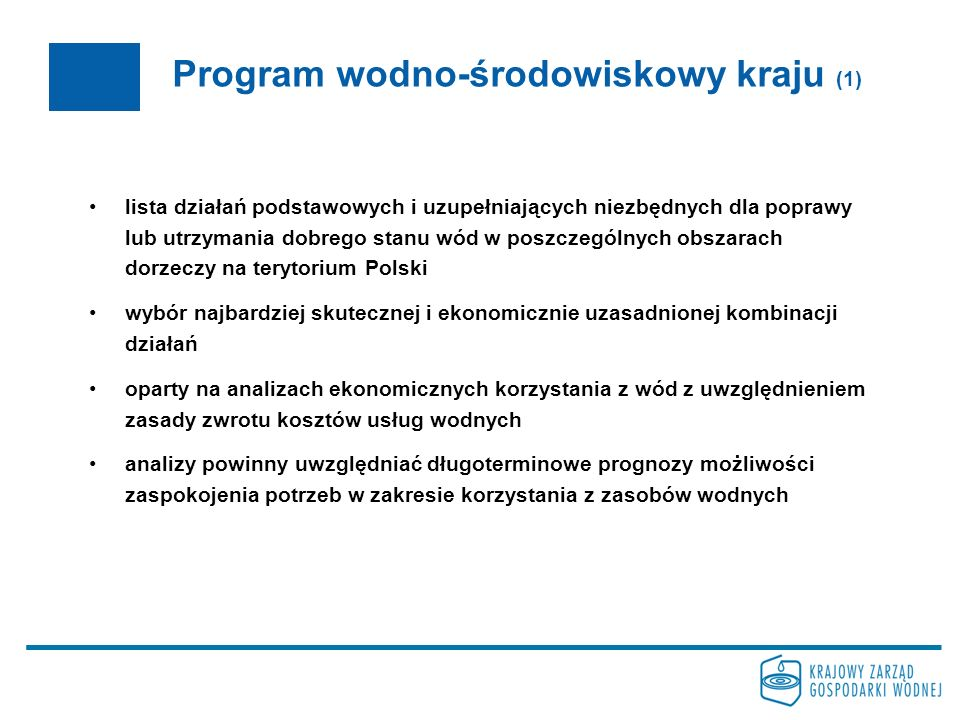 Program wodno-środowiskowy kraju (1)