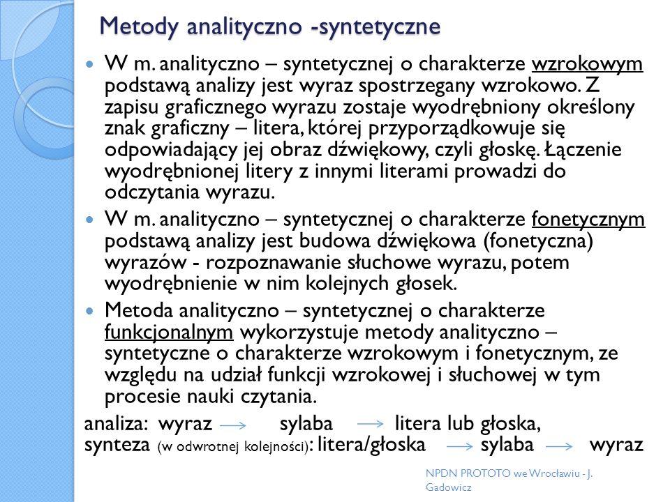 Metody analityczno -syntetyczne