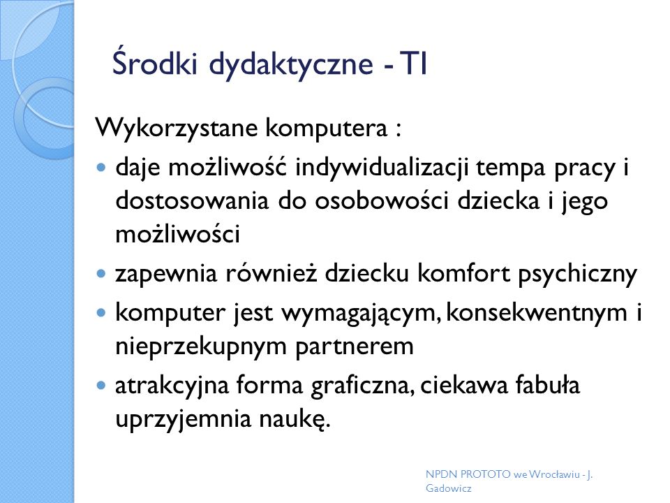 Środki dydaktyczne - TI