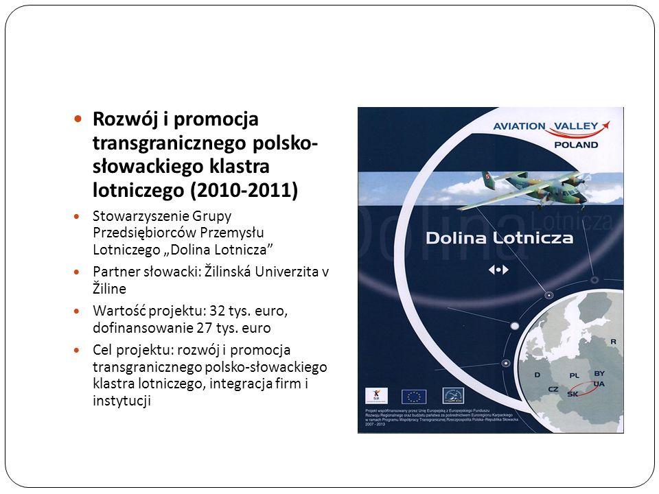 Rozwój i promocja transgranicznego polsko- słowackiego klastra lotniczego (2010-2011)