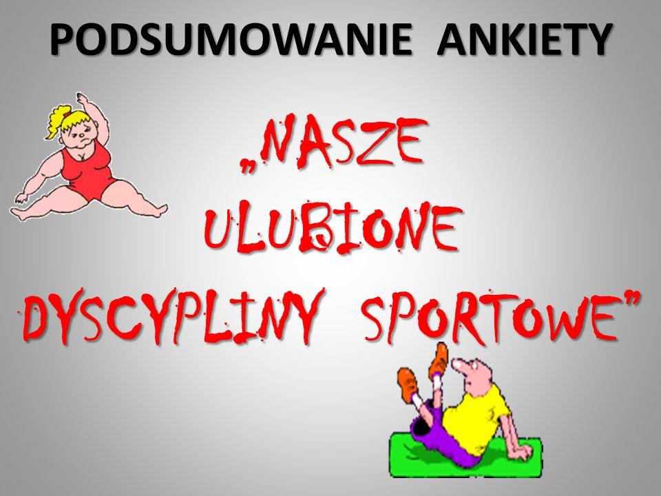 """""""NASZE ULUBIONE DYSCYPLINY SPORTOWE"""