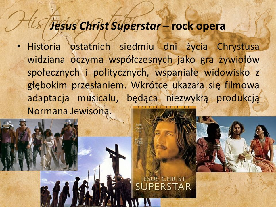 Jesus Christ Superstar – rock opera