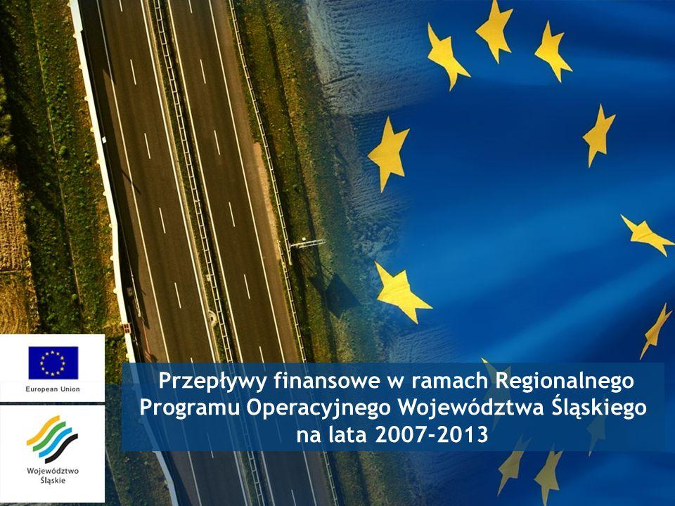 Przepływy finansowe w ramach Regionalnego Programu Operacyjnego Województwa Śląskiego na lata 2007-2013