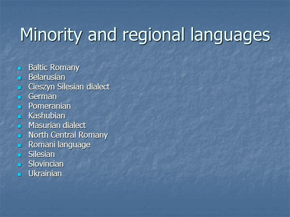 Minority and regional languages