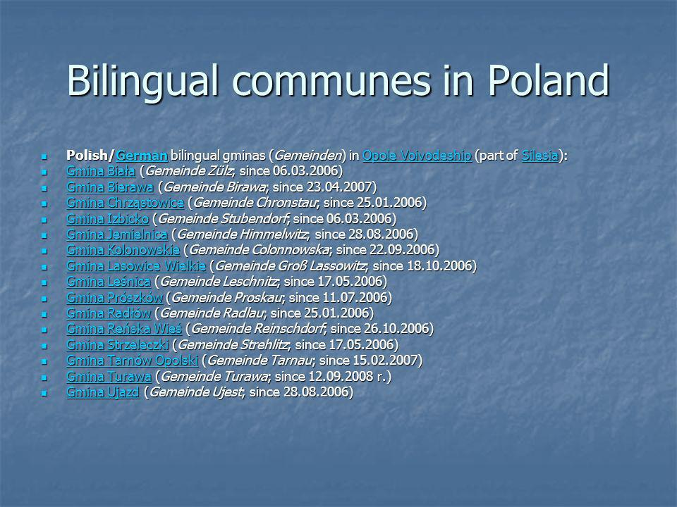 Bilingual communes in Poland